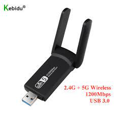 Buy Online New USB 3.0 1200Mbps Wifi Adapter Dual Band 5GHz 2.4Ghz 802.11AC  RTL8812BU Wifi Antenna Dongle Network Card For Laptop Desktop ▻ Alitools