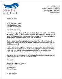 Restaurant Complaint Letter Koziy Thelinebreaker Co