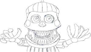 Fnaf Coloring Pictures Coloring Pages Toy Fnaf Foxy Coloring Page