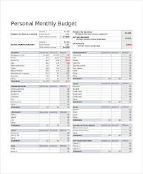Excel Monthly Budget Spreadsheet Free Monthly Budget Spreadsheet Template Svitua