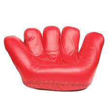 baseball glove seat designed by jonathan de pas donato d urbino and paolo lomazzi