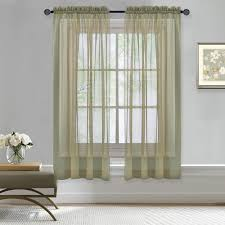 nicetown sheer curtains rod pocket sheer voile curtain panels for bedroom window