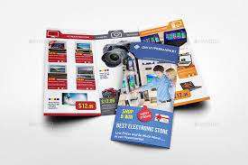 Electronic Brochure Template Electronics Products Catalog Tri Fold Brochure Template