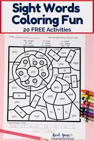 If you wanted the top half of the sheet of us letter sized paper to be coloured light green (for example), this. Sight Words Coloring Pages For Fantastic Reading Fun Rock Your Homeschool