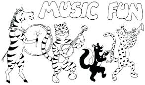 Printable Music Coloring Pages For Adults Free Notes Instrument Colo