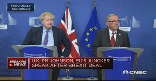 UK and EU agree on new Brexit deal, Boris Johnson says