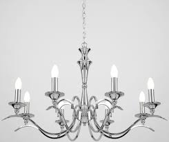 kora traditional chrome finish 8 light chandelier