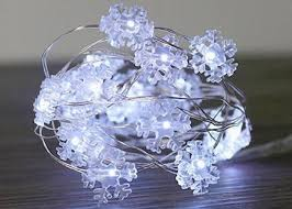 2 Meter USB LED Fairy Lights , 5 Volt Mini Snowflake String