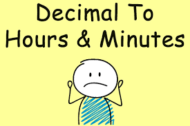 Decimal To Hours Chart How To Convert Decimal Hours To Hours And Minutes Ontheclock