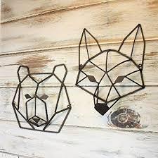 metal bear head wall art