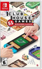 Amazon.com: Clubhouse Games: 51 Worldwide Classics - Nintendo Switch:  Nintendo of America, Nintendo: Video Games
