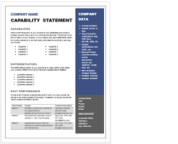 Capability Statement Template | Bravebtr