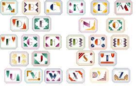 Art Deco Cross Stitch Charts Art Deco Monograms