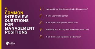 5 Common Management Interview Questions And Answers How To Prepare
