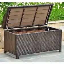 All Weather Wicker Storage Chest