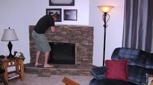 Faux Stone Veneer Fireplace  Home Fireplaces Firepits  Stone Fake Stone Fireplace
