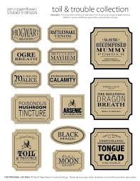 Template Blank Potion Label Template Bottle Potion Label Template