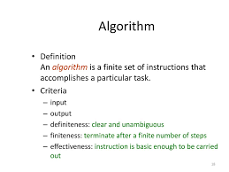 Design And Analysis Of Algorithms Ppt Notes What Is An Algorithm Algorithm Specification Ppt Download