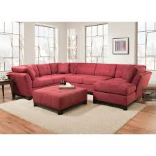 manhattan sectional  sofa loveseat  rsf chaise  red (ar