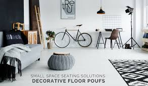 Floor Poufs: Small Space Seating Solutions