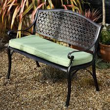 july metal garden bench seat antique