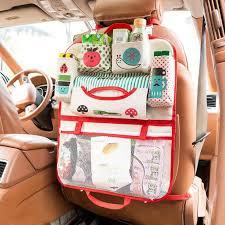 cartoon car seat back storage hang bag organizer car styling baby product tidying baby care interior back seat protector diy back seat organizer dog car