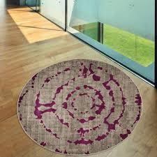 pacific abstract grey purple rug by floorita