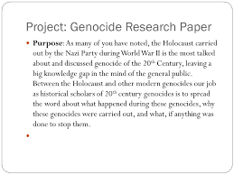 filling the gap genocide driving questions why is it important to  project genocide research paper purpose as many of you have noted the holocaust