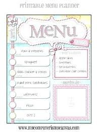 Party Menu Template Come Dine With Me Menu Template Askwhatif Co