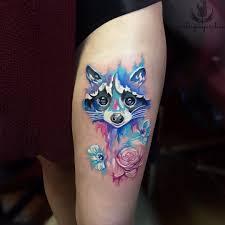 фото тату цветы в стиле акварель от мастера Victoryinspiration