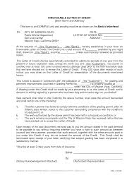 Irrevocable Letter Of Credit Template Docoments Ojazlink