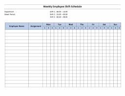 Sample Work Schedule For Employees Employee Shift Scheduling Spreadsheet Free Printable Weekly Work