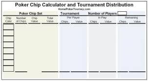 Poker Chip Calculator Home Poker Tourney