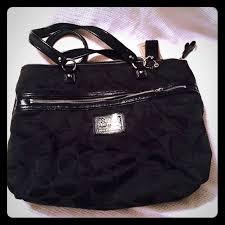 Black COACH poppy bag Pristine COACH Poppy SIGNATURE ...