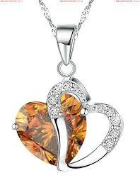 boolavard tm fashion osterreic czech crystal heart shape pendant necklace gift box 616
