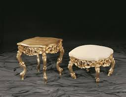 baroque coffee table with wooden beech