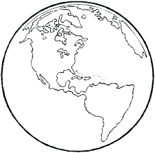 Coloring Pages Of The World Globe Coloring Simple Kids