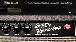 Fender 4x10 Guitar Cabinet Fender Vintage Reissue 65 Super Reverb 4x10 Guitar Combo Amp