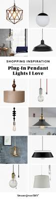 12 plug in pendant lights i love