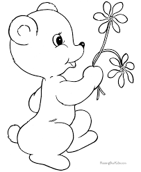 Small Picture Valentines Coloring Pages of Bears
