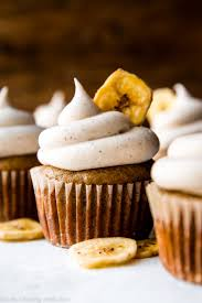 Banana Cupcakes With Cinnamon Cream Cheese Frosting Sallys Baking