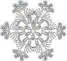 Вязанные снежинки крючком видео