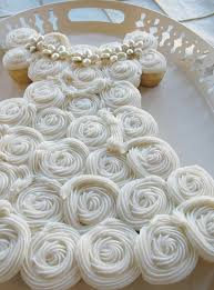 wedding dress cupcake cake I like it better for a first