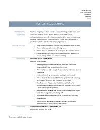 hostess resume samples tips and templates online resume builders hostess resume page 001