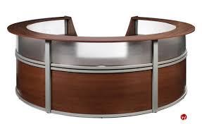circular office desk. OMF 55316, 5 Unit Marque Circular Reception Desk Workstation Circular Office Desk H