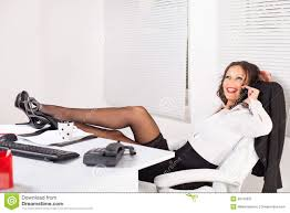 Hot office pic Colleague Hot Business Woman Sitting In The Office With Legs On The Table And Talking On Mobile Phone Dreamstimecom Hot Business Woman Stock Image Image Of Attractive Secretary