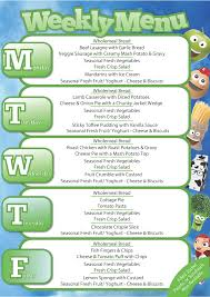 Weekly Menu Autumn Weekly Menu Week 3 – Earlsdon Primary School, Coventry