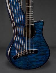 Synergy Woody (Quilted Maple) Blue Artisan Gallery - Emerald Guitars & Emerald Guitars Synergy Woody (Quilted Maple) Blue Artisan Gallery Adamdwight.com