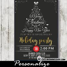 White Christmas Invitations Company Holiday Party Invitations Black White Christmas Word Tree