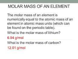 CHEMICAL QUANTITIES Composition Stoichiometry Calculating Molar ...